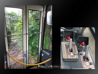 バスのドアとドアスイッチ